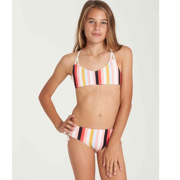 Billabong Girls Bella Beach Bandeau Bikini Swim Set